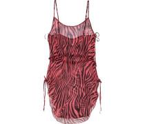 Tori zebra-print silk-chiffon coverup