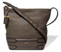 Alexa Textured-leather Shoulder Bag Anthrazit