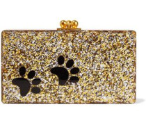 Jean Paws glittered acrylic box clutch