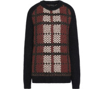 Bradford plaid wool, cashmere and mohair-blend sweater