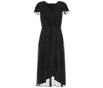 Wrap-effect Polka-dot Crinkled-georgette Midi Dress
