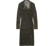 Rosalind leopard-print silk-georgette dress