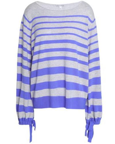 Striped Cashmere Sweater Lavender