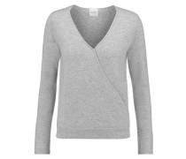 Denton Wrap-effect Cashmere Sweater Grau