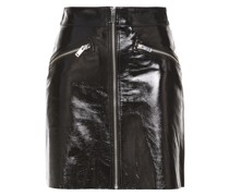 Cracked Patent-leather Mini Skirt