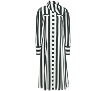 Lucille Striped Textured-crepe Midi Dress