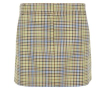 Gingham Jacquard Mini Skirt
