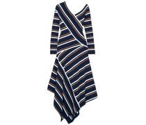 Woman Asymmetric Stretch-knit Midi Dress Navy