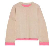 Zweifarbiger Pullover aus Einer Baumwollmischung
