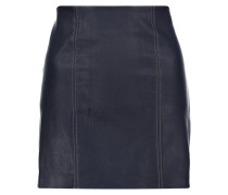 Stretch-leather Mini Skirt Navy