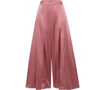 Covent Garden Silk-blend Satin Culottes