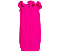 Strapless Ruffle-trimmed Gathered Cady Dress