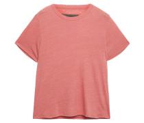 Woman Slub Cotton-blend Jersey T-shirt Antique Rose