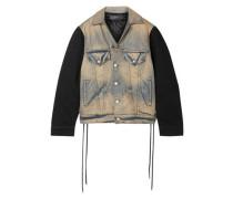 Oversized Paneled Denim Jacket Light Denim