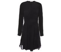 Pleated Fil Coupé Silk-blend Mini Dress