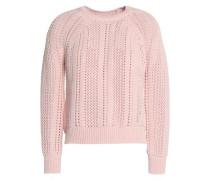 Open-knit cotton sweater