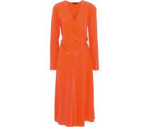 Odette Wrap-effect Silk Crepe De Chine Midi Dress
