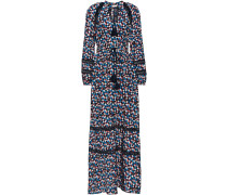Printed Cotton And Silk-blend Maxi Dress
