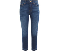 Roxanne Cropped Mid-rise Slim-leg Jeans
