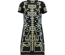 Maze Jacquard-knit Mini Dress Schwarz