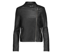 Draco Leather Biker Jacket Schwarz
