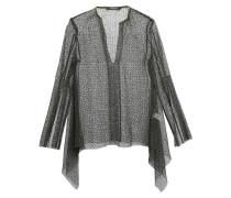 Open-knit Cotton-blend Blouse