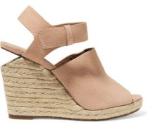 Tori nubuck espadrille wedge sandals