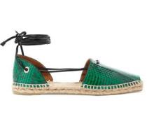 Paulina snake-effect leather espadrilles