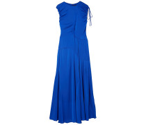 Ruched Stretch-silk Maxi Dress