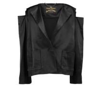 Cold-shoulder satin jacket