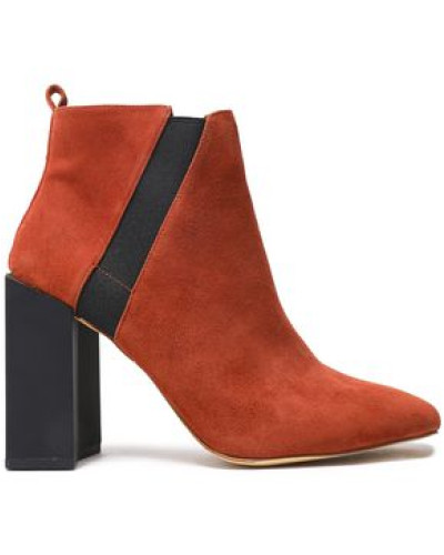 Leather Ankle Boots Brick