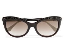Crystal-embellished D-frame Acetate Sunglasses Braun
