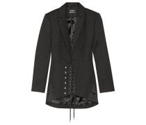 Lace-up wool blazer