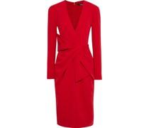 Kleid aus Stretch-crêpe mit Schleife