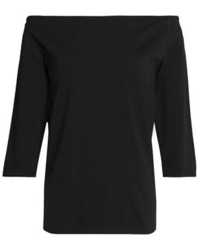 Off-shoulder Stretch-jersey Top Black
