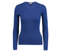 Ribbed Cashmere Sweater Navy