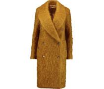 Mohair-blend Coat Senfgelb