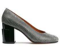 Kenneth Snake-effect Leather Pumps