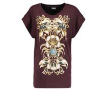 Printed Stretch-jersey T-shirt Burgunder