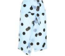 Misty polka-dot PU skirt