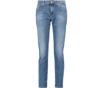 Mid-rise Slim-leg Jeans Mittelblauer Denim