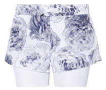 Run layered Climalite printed shell and jersey shorts