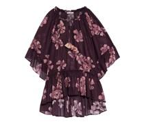 Futura Strandkleid aus Baumwoll-voile mit Floralem Print und Rüschen