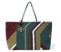 Britten color-block shearling tote