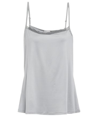 Lace-trimmed Stretch-jersey Camisole Stone