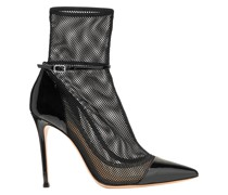 100 Mesh And Patent-leather Ankle Boots