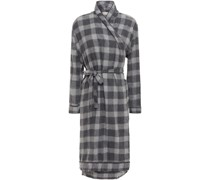 Checked Cotton-flannel Wrap Dress