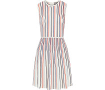 Woman Striped Ponte Mini Dress Multicolor