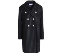 Gaby striped wool-blend coat