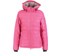 Camp Hooded Quilted Shell Jacket Fuchsia